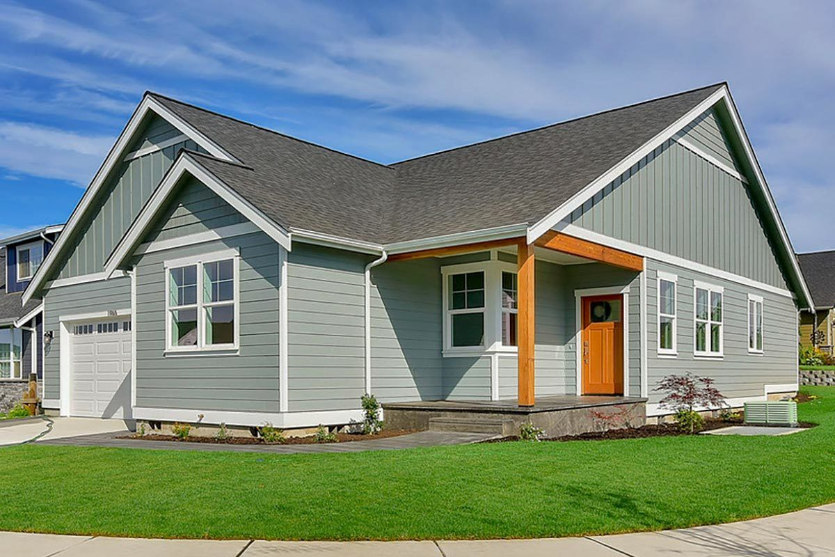 Plan 280008JWD: Affordable 3-Bed Narrow Lot Ranch House ...