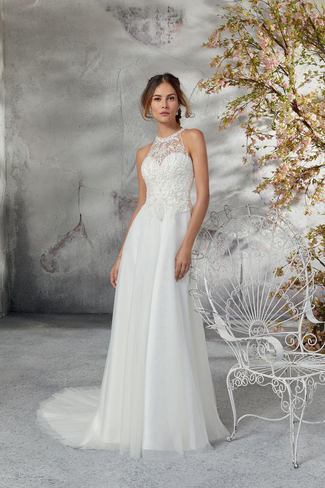 Model 5691 Marzycielska Suknia ślubna Z Miękkiego Tiulu Z