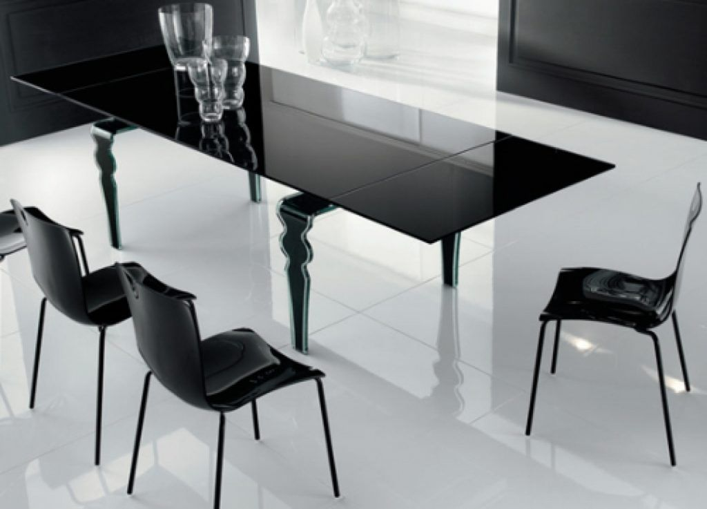 Modern Glass Dining Table Modern Dining Table Gray Dining Room