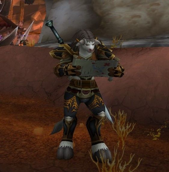 Low Level Plate Gold And Gray Xmog Another Reminder That Lowbies Can Look Stylish Too Bonus Points For Fem Taur Closed Mouth Scre Samurai Gear Tauren Canning