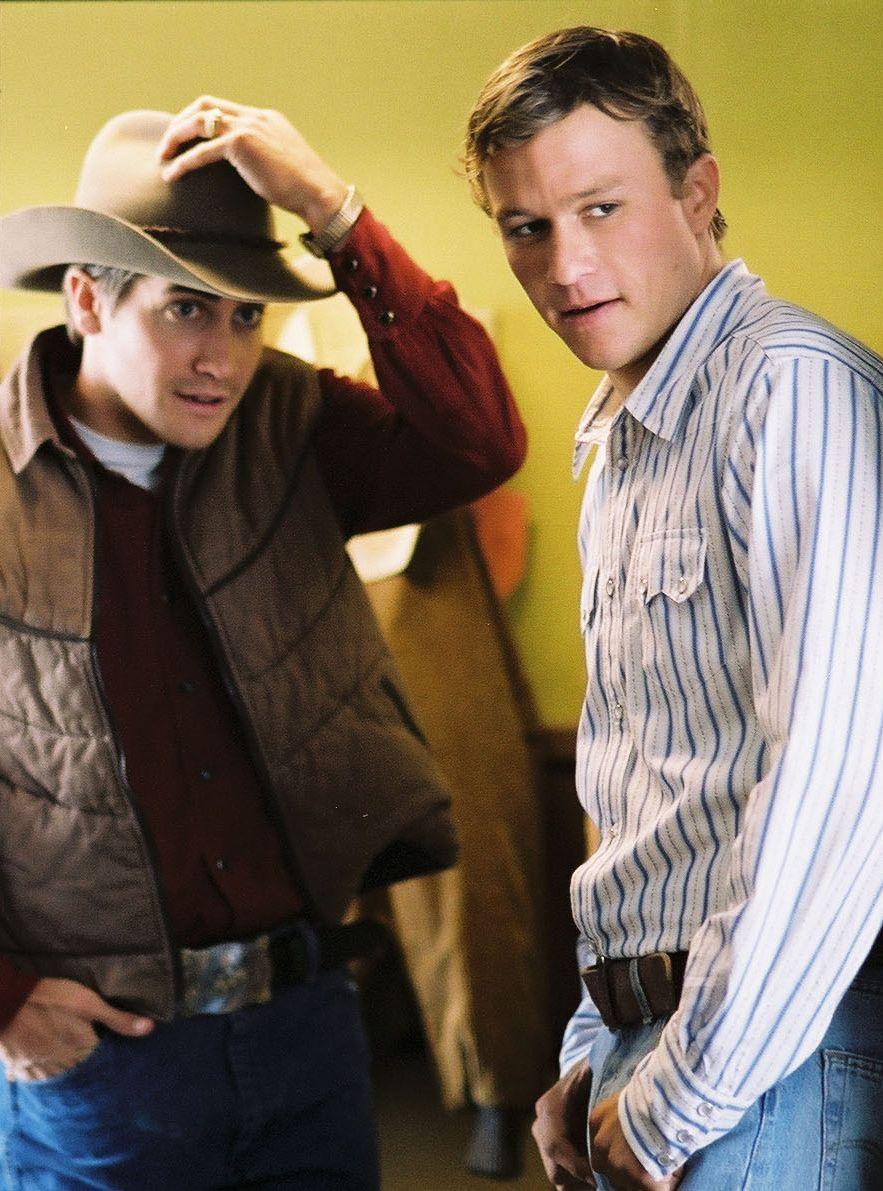 Jake Gyllenhaal and Heath Ledger in Brokeback Mountain