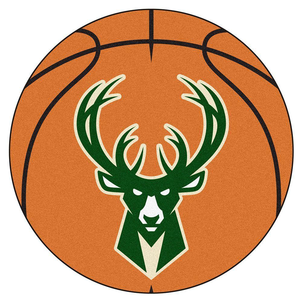Milwaukee Bucks Basketball Mat (29 diameter)