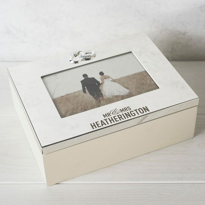 Personalised Silver Plated Wedding Keepsake Box Gettingpersonal Co Uk