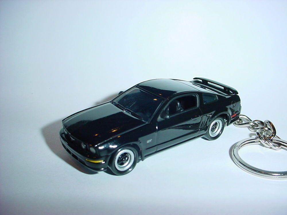 New 3d Black 2005 Ford Mustang Gt Custom Keychain Keyring Key