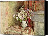 Flowers In A Vase Painting by Edouard Vuillard - Flowers In A Vase Fine Art Prints and Posters for Sale