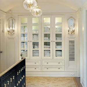 Delicieux Glass Front Linen Cabinet, Traditional, Entrance/foyer, Sussan Lari  Architect