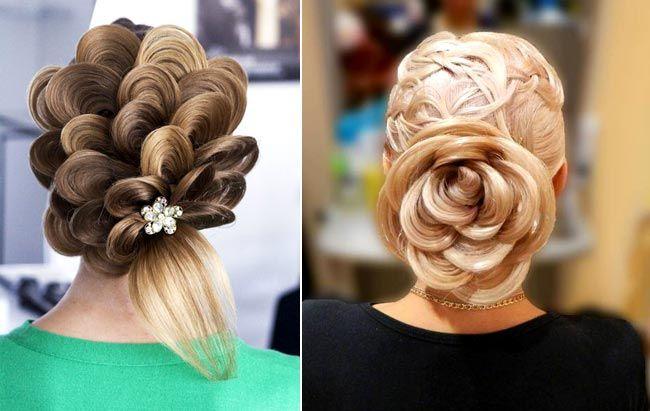 цветы из волос, роза из волос