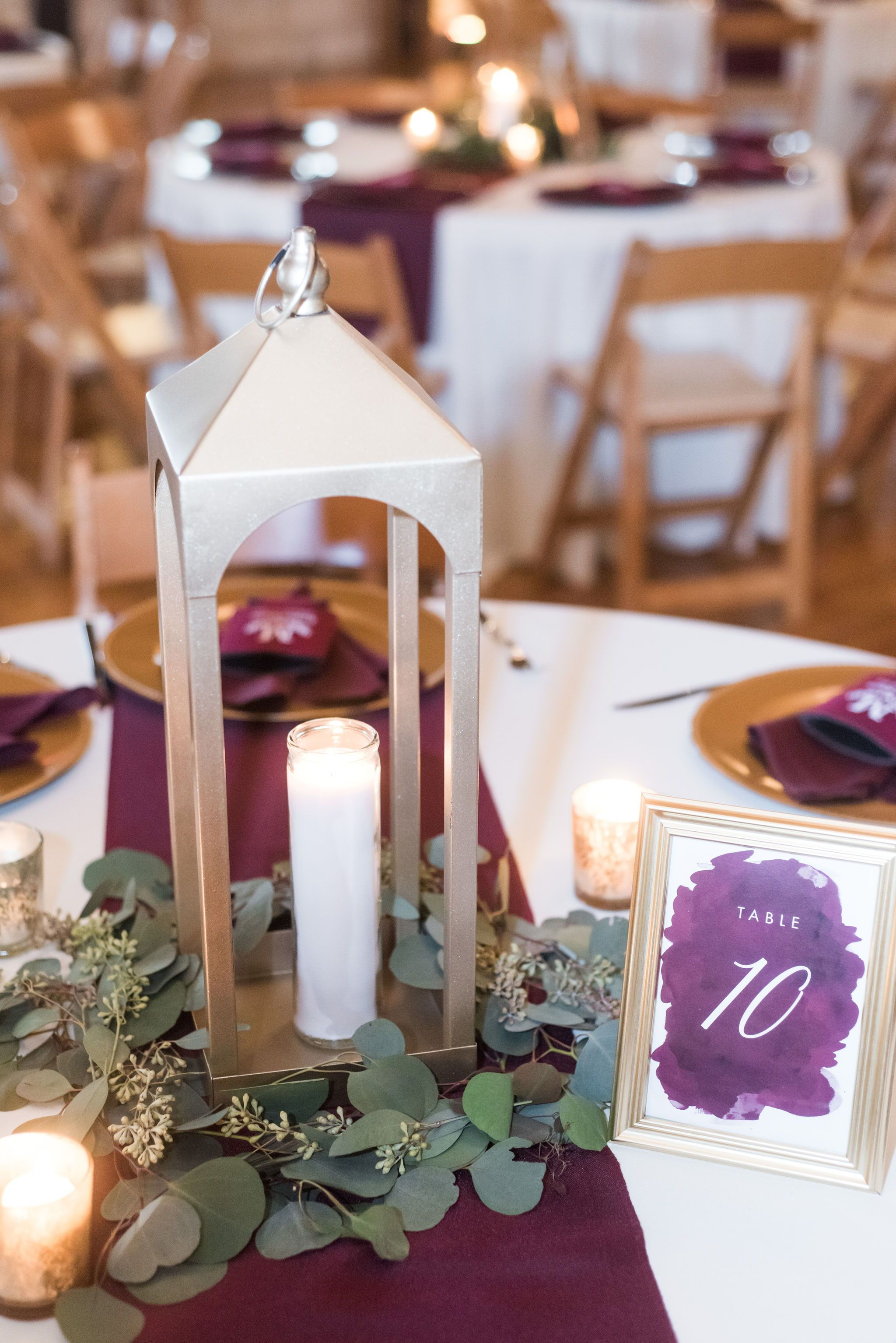 Stonebridge In 2020 Purple Wedding Centerpieces Gold Wedding