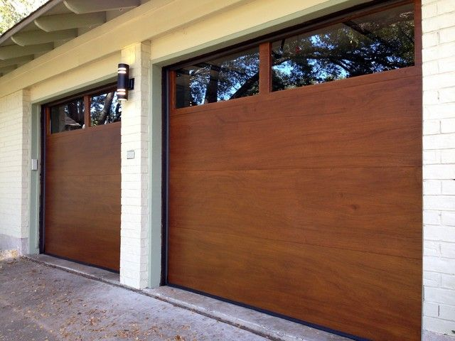 Two Clopay Model 33 Flush Luan Mahogany Doors With Long Panel
