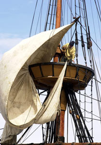 Mayflower II sailors Plymouth Massachusetts (With images