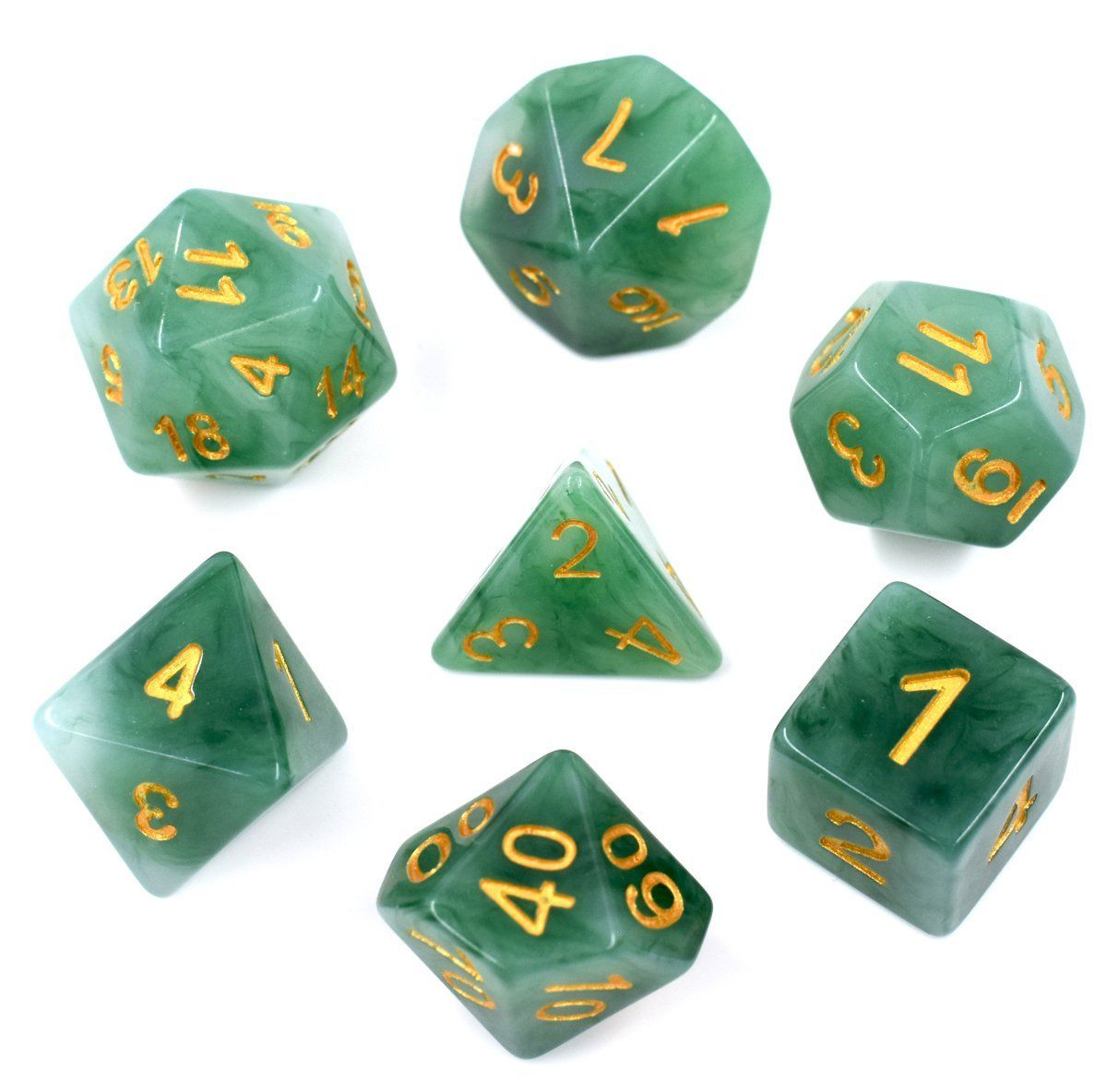 Role Play Game 7 Pieces Resin Dnd Dice Set Polyhedral Dice for DND RPG MTG