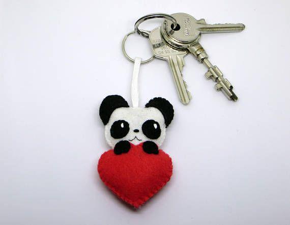 Porte Clé Panda Panda Kawaii Porte Clé Porte Clef Porte Peluches - Porte clef photo