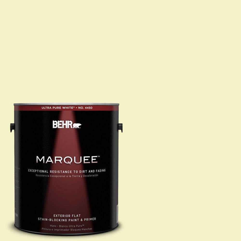 Behr marquee gal a candlelight yellow flat exterior paint