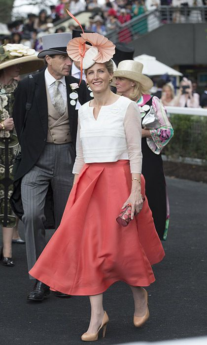 The Countess of Wessex wore a stunning coral skirt on day three of ...