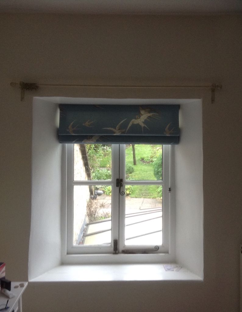 Sanderson swallows roman blind blinds pinterest roman blinds