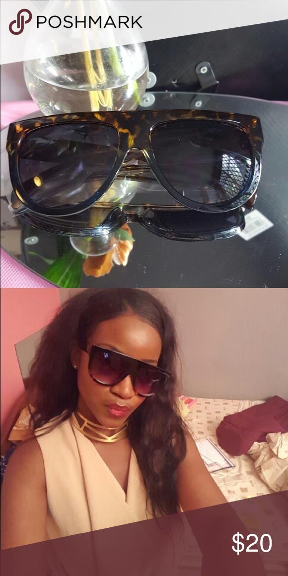 Oversize Sunglasses Women  Shades Men Oversize Sunglasses Women  Shades Men Retro Flat Top Cat eye Glasses Design Vintage Sunglass Female Accessories Sunglasses