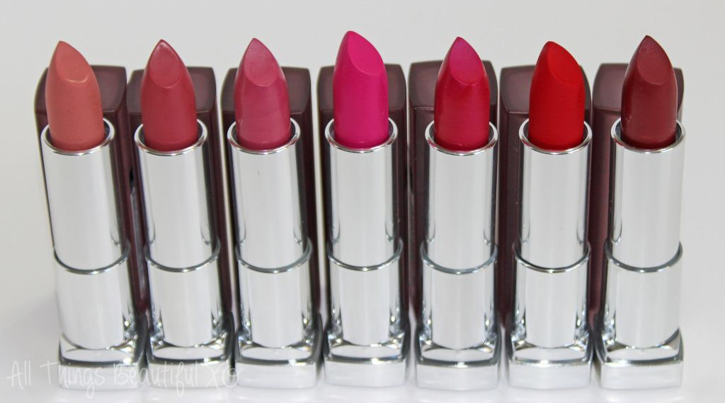 Maybelline Color Sensational Creamy Matte Lipsticks Swatches & Review from All Things Beautiful XO