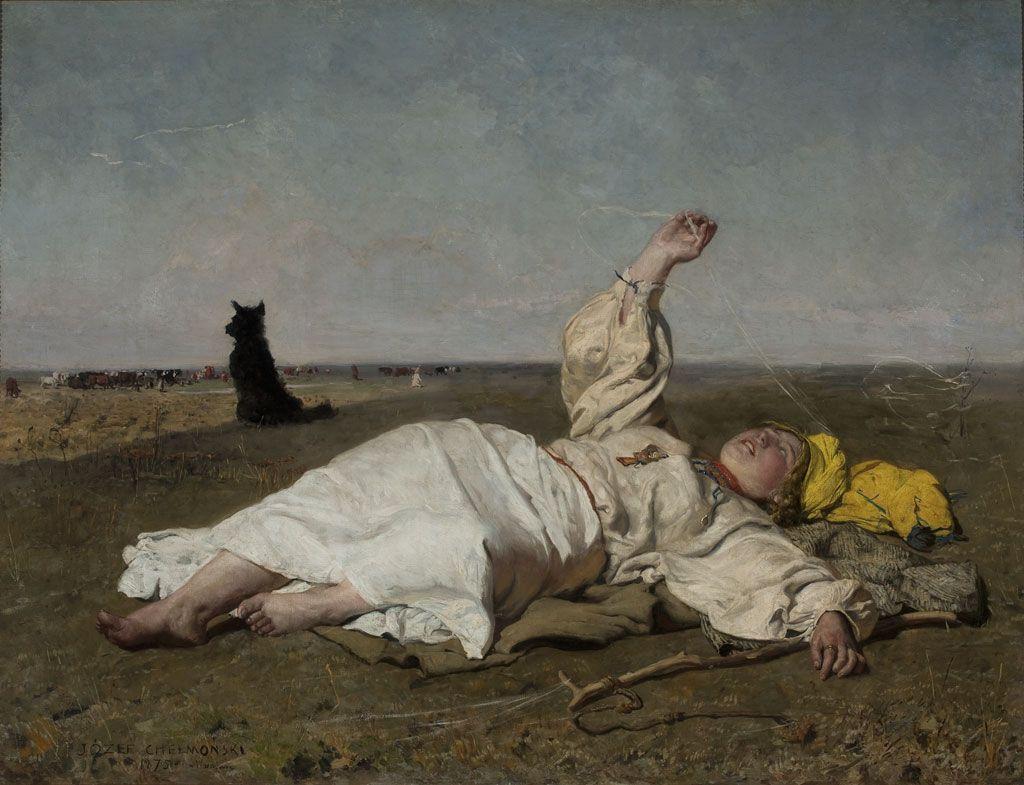 Józef Chełmoński Embabie Latoem 1875 Mnw