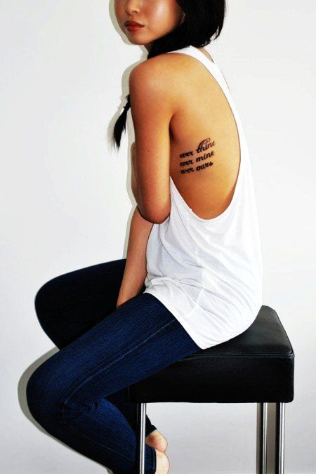 Rib Quote Tattoos, ever thine, ever mine, ever ours