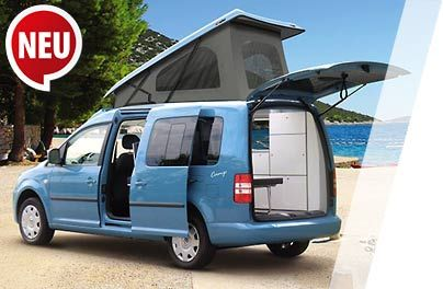 zur detailansicht des minicampers vw caddy camp maxi. Black Bedroom Furniture Sets. Home Design Ideas