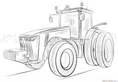 How To Draw A Tractor Step By Step Drawing Tutorials For Kids And Beginners Cizim Desenler Traktor