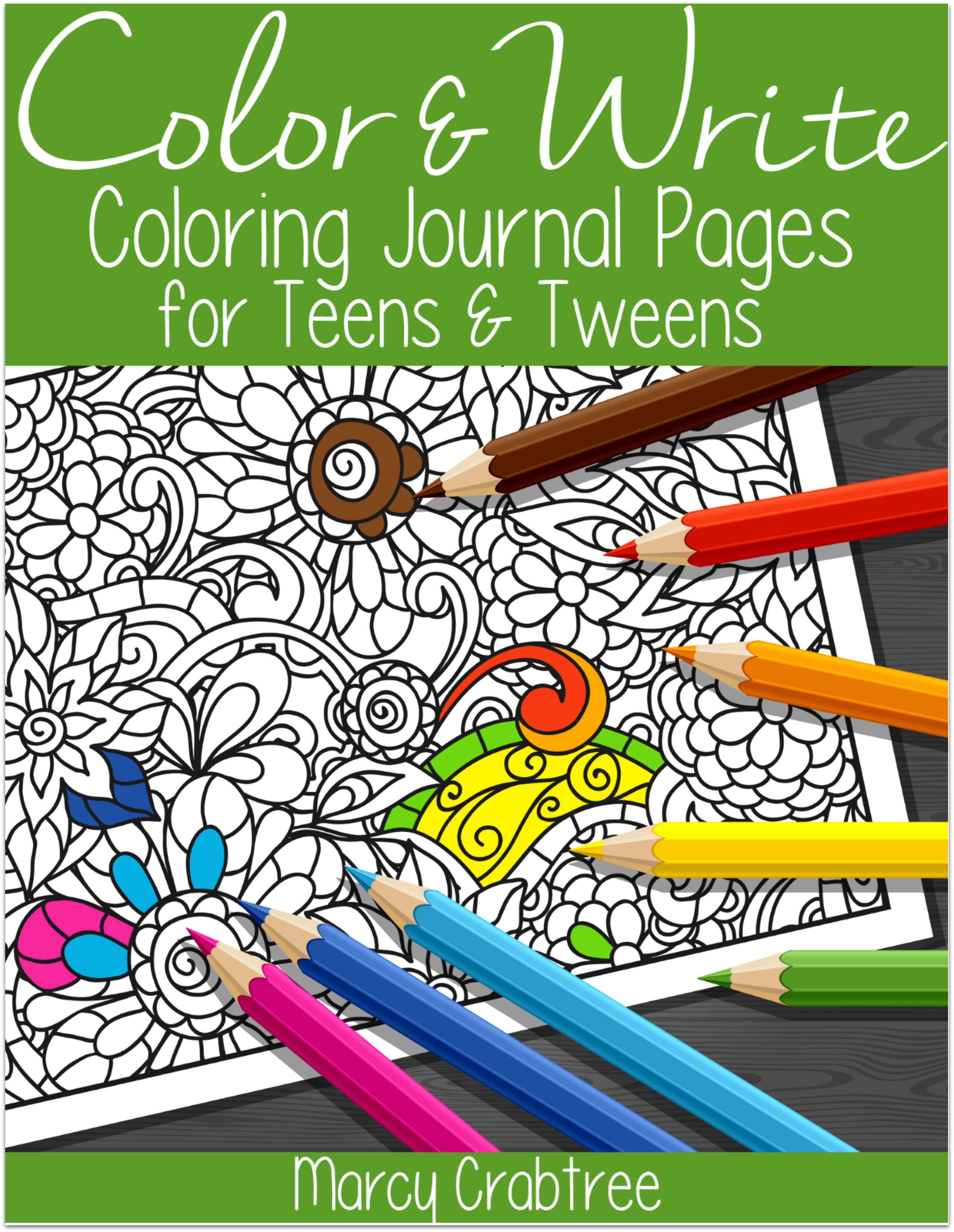 FREE! Color & Write: Coloring Journal Pages for Teens & Tweens ...