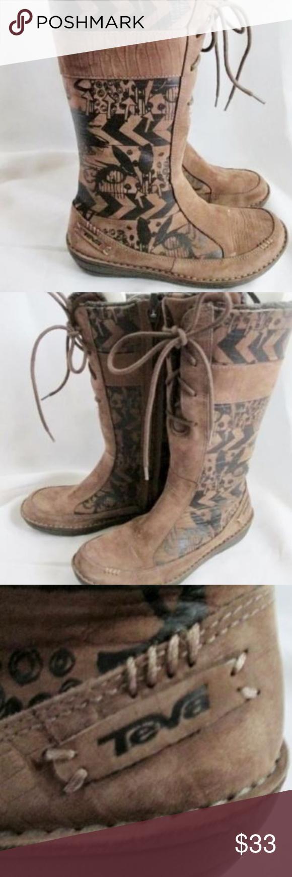 f24d548a7e491c Womens TEVA KIRU 4058 Suede Leather BROWN 8 TATTOO Gorgeous pair of womens  ladies Teva Spider