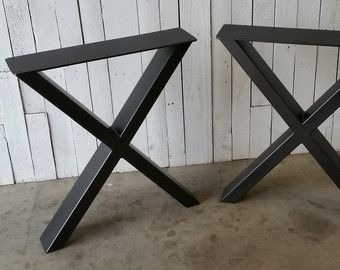 This Listing Is For A Set Of Custom Alexander Metal Table Legs They Are Typically 34 40 Wide 28 30 Tall But Can Be Offered In Wver Más