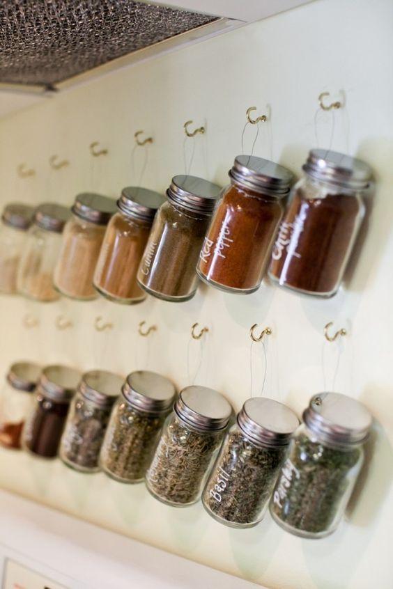 Diy Spice Jar Storage Shelves Pinterest Spice Storage Spice