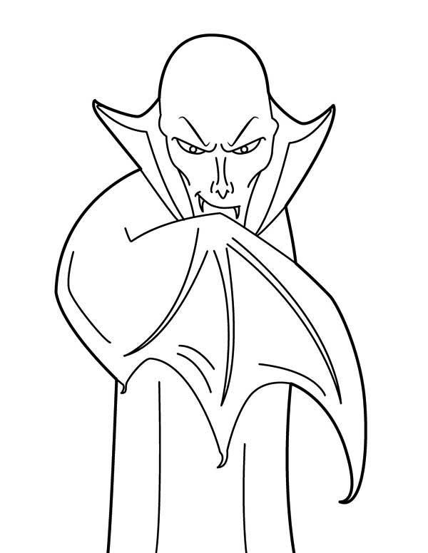 Drawing Bald Vampire Coloring Page Coloring Sun