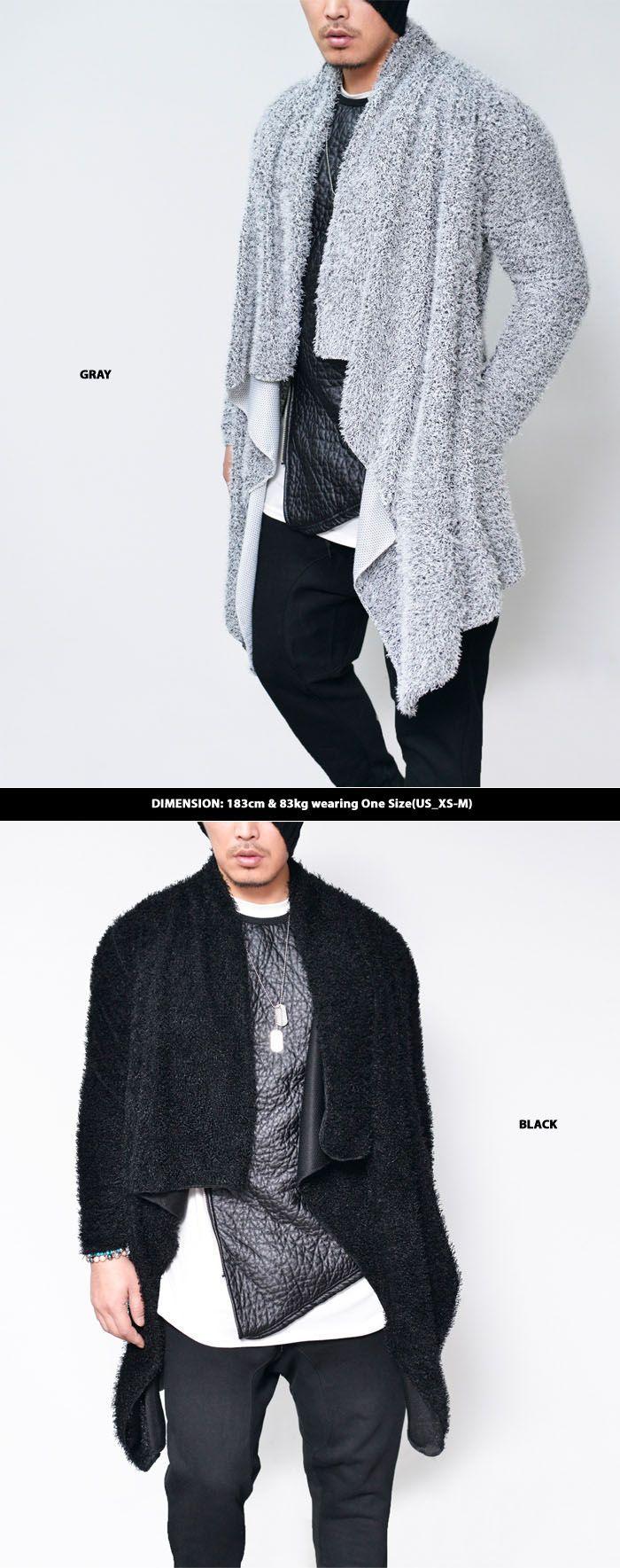 Outerwear :: Rich Fur Unbalance Shawl Jacket-Cardigan 151 - Mens ...