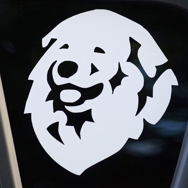 """Pyrenees Decal for Tinted Glass 4.5"""" x 4.5"""""""