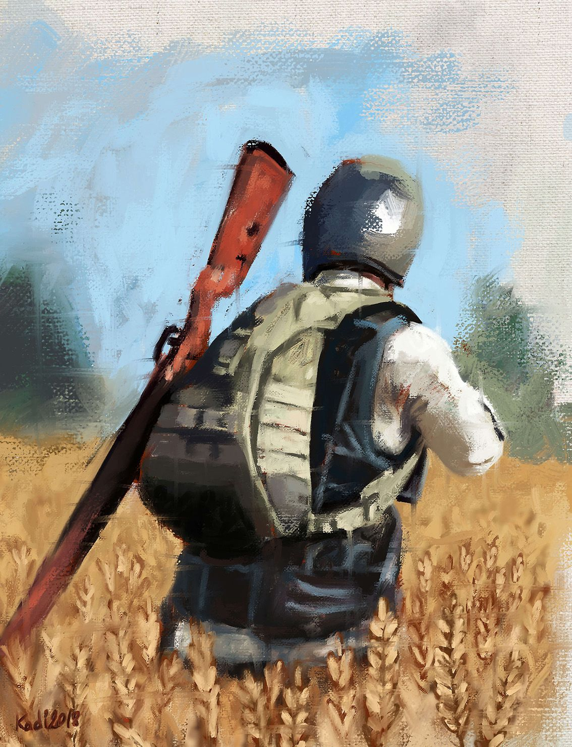Pubg Character Painting Digital Painting In 2019 Painting