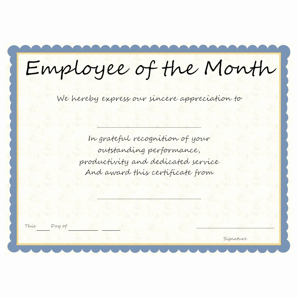 Employee Recognition Cards Template Awesome Employee Of The Month Award Employee Recognition Card Template Recognition