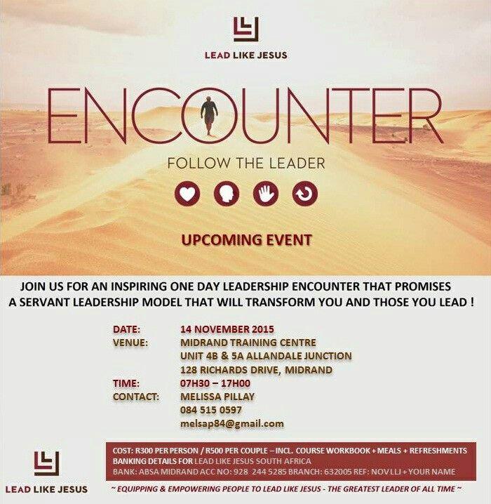 Lead Like Jesus South Africa November 2015  Encounter
