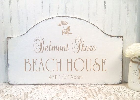 Beach House Wood Sign Personalized Family Est Date By Signsbydiane