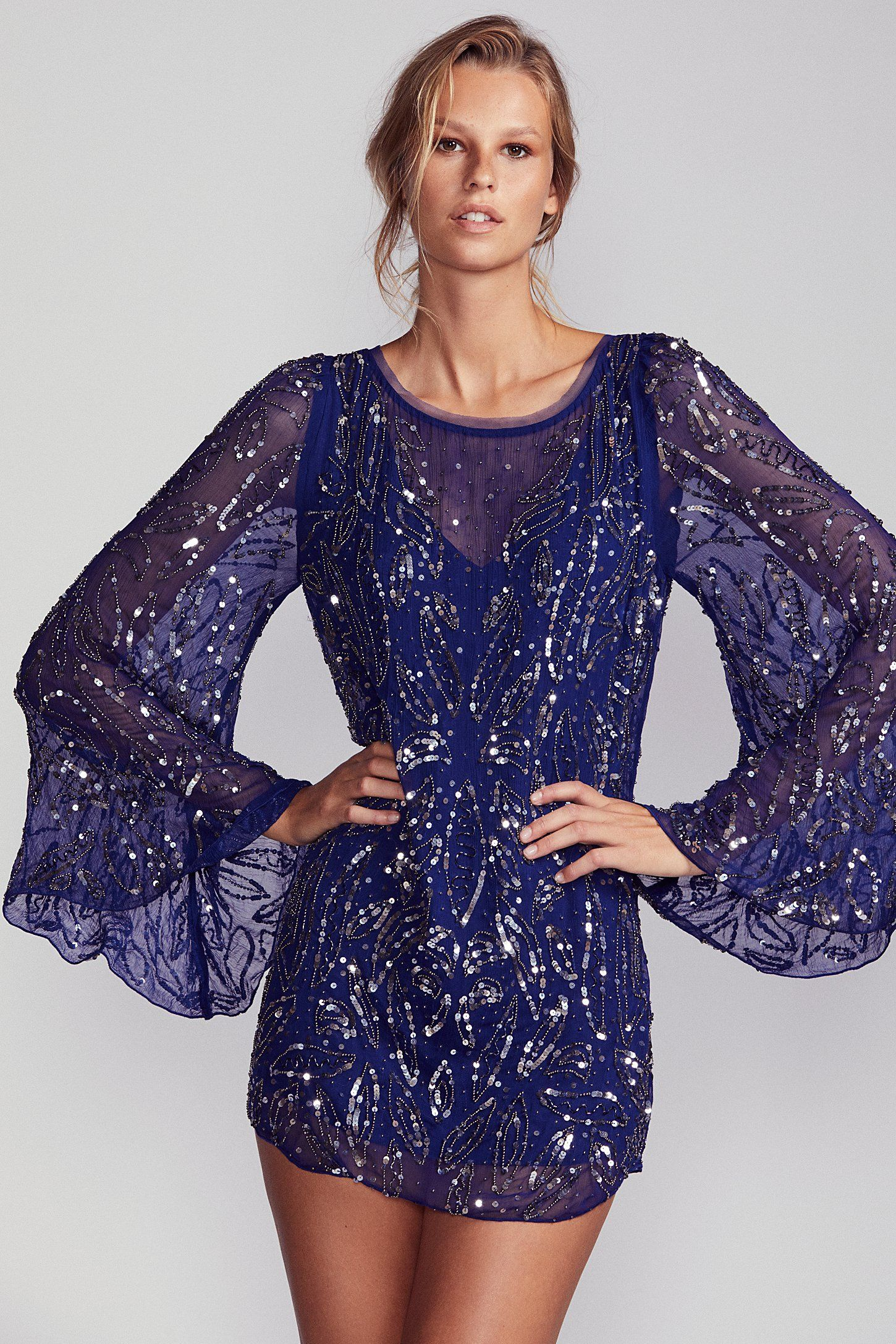 76ee4f2f Shop our Sequin Sparkle Bow Mini Dress at Free People.com. Share style pics  with FP Me, and read & post reviews. Free shipping worldwide - see site for  ...