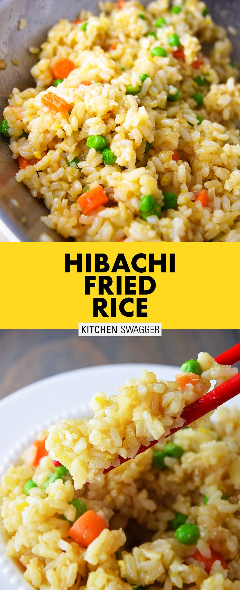 Hibachi-Style Fried Rice Recipe   Recipe   Easy rice ...