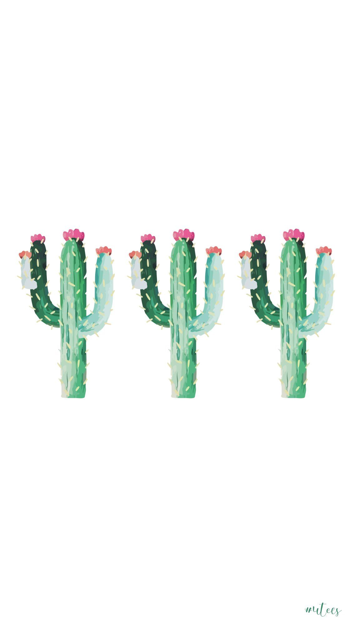 handdrawn cactuses i screensaver i iphone wallpapers i phone