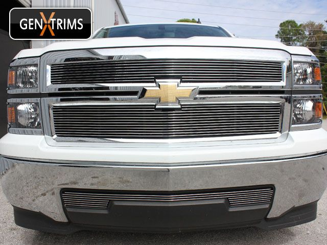 2014 2015 Chevy Silverado 1500 Billet Grille Polished Set By Genx
