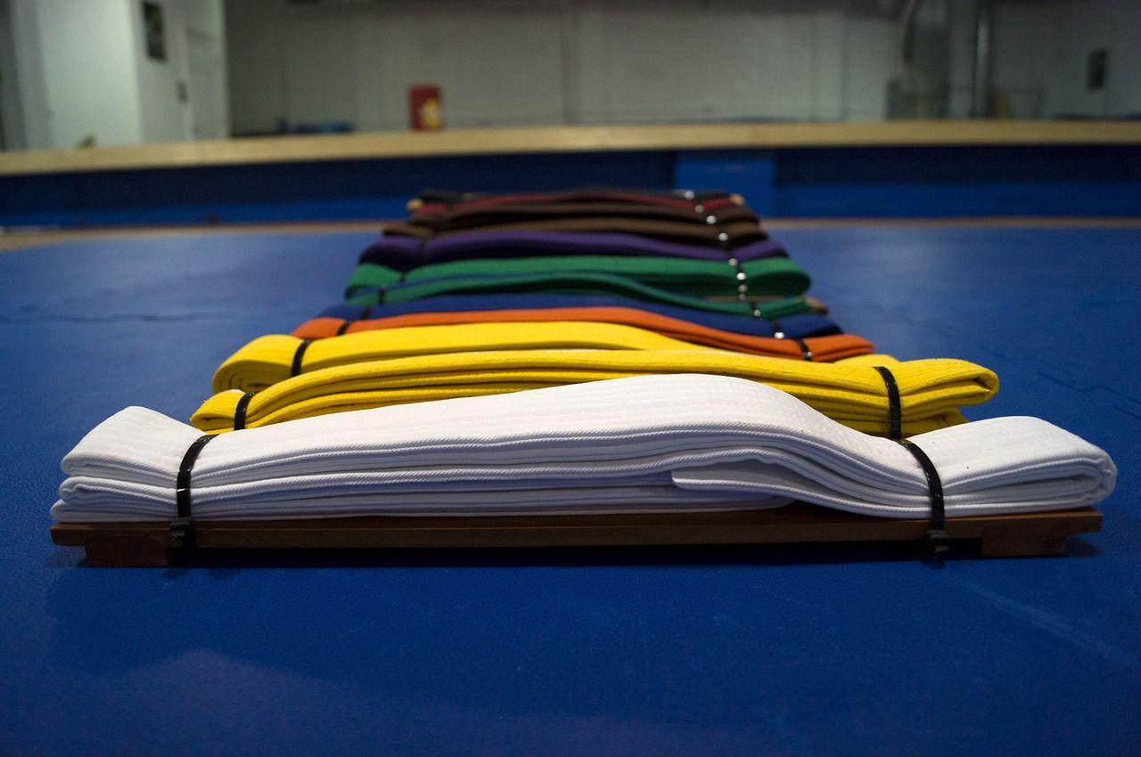 different martial arts belts