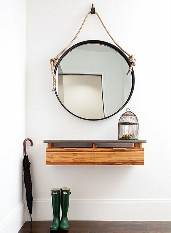 Le meuble console d 39 entr e compl te le style de votre for Miroir rond entree