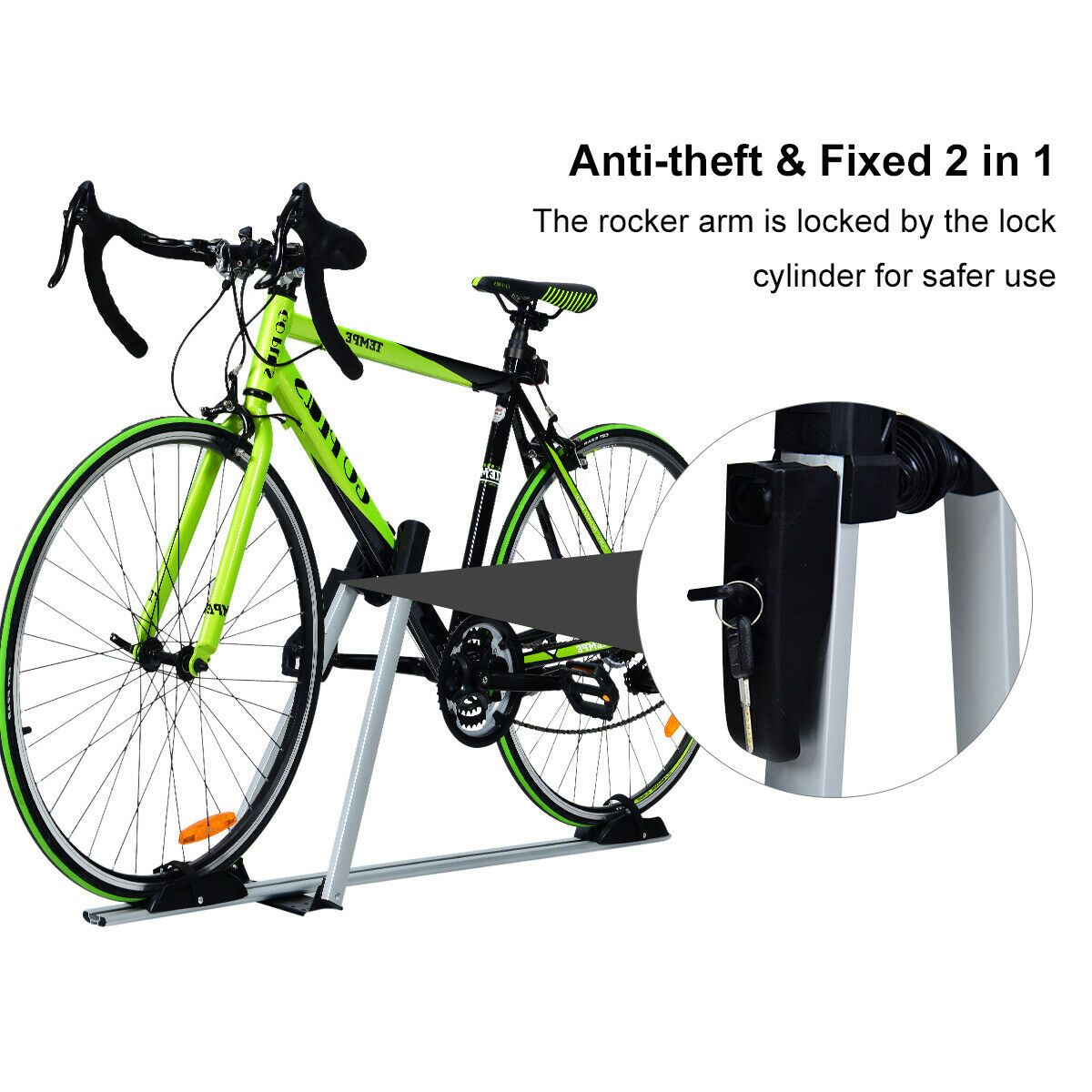 Upright Roof Mount Bike Rack with Antitheft Lock in 2020