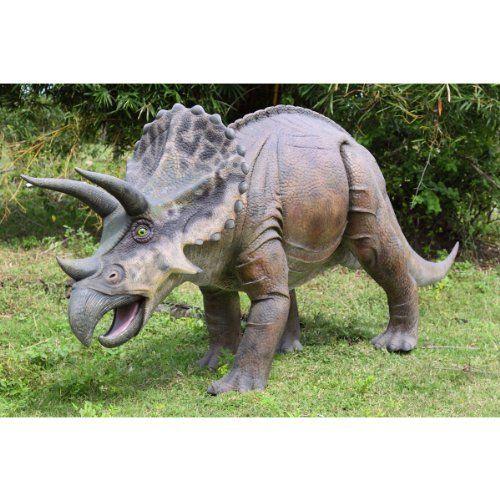 171w Jurassic Triceratops Dinosaur Home Garden Statue Sculpture