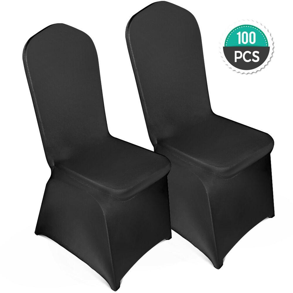 Ebay Sponsored 100pcs Stretch Spandex Folding Chair Covers Black