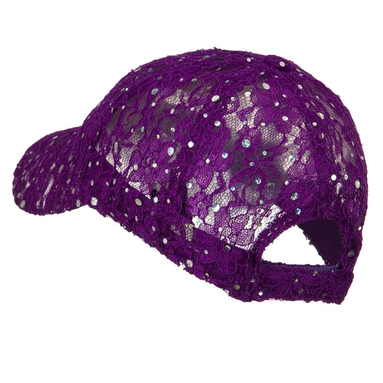 b510e9a6b30 Lace Sequin Glitter Cap - Purple W41S52F - CY110A3TW39 in 2018 ...