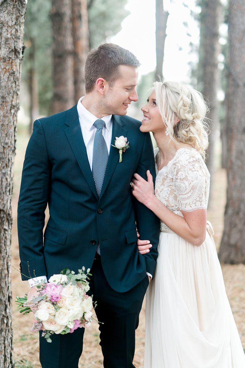 Modest wedding dress with half sleeves from alta moda bridal