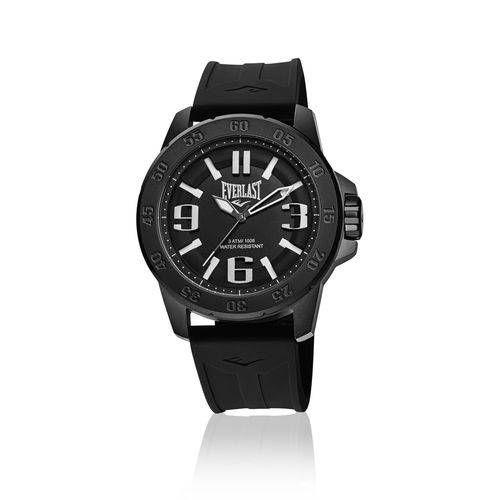 fae6a33e067 Relógio Everlast E696 Caixa Aço E Pulseira Silicone em 2019 ...