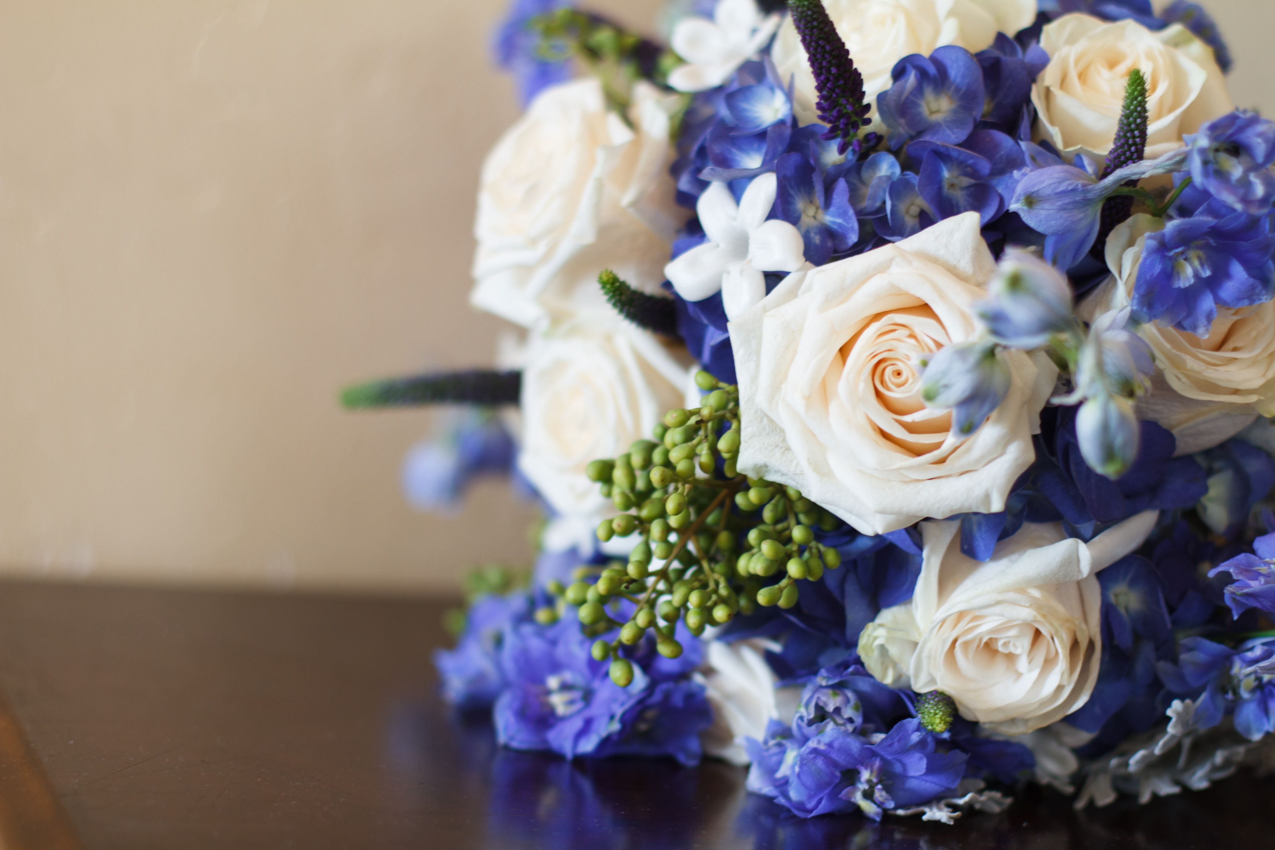 Fiori Blu E Bianchi.Blue White Wedding Bouquet