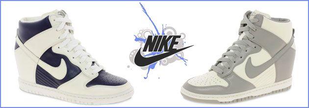 Wedged sneakers by Nike